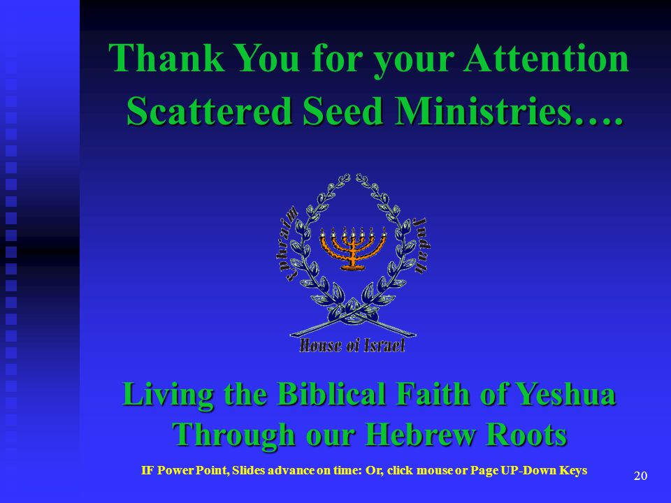 19 Israel the People Continued… Who are the People of Israel….