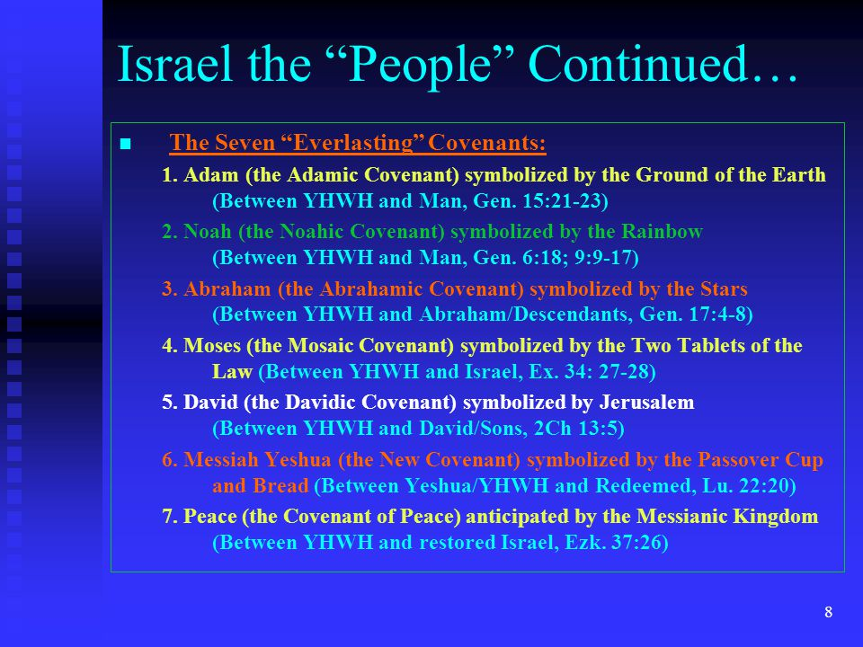 7 Israel (as a nation of people ) were brought to Mt.