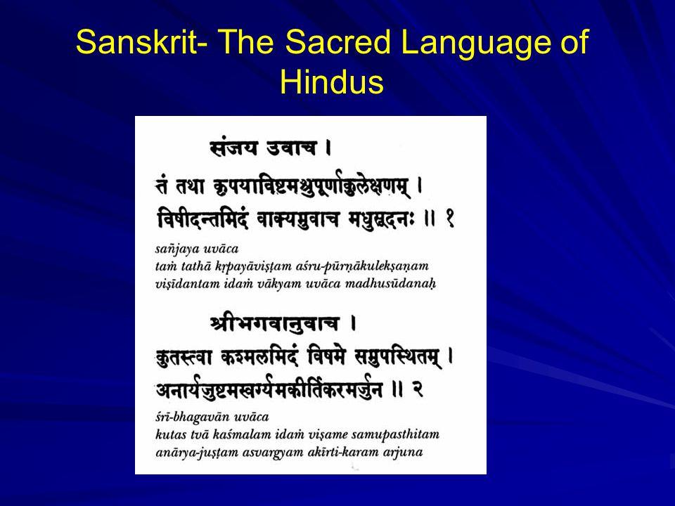 Sanskrit- The Sacred Language of Hindus