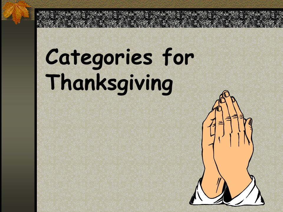Categories for Thanksgiving