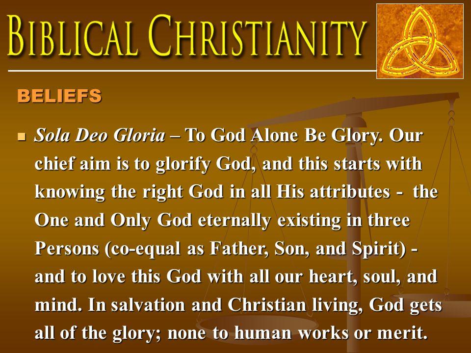 Sola Deo Gloria – To God Alone Be Glory.