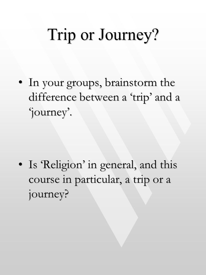 Trip or Journey.