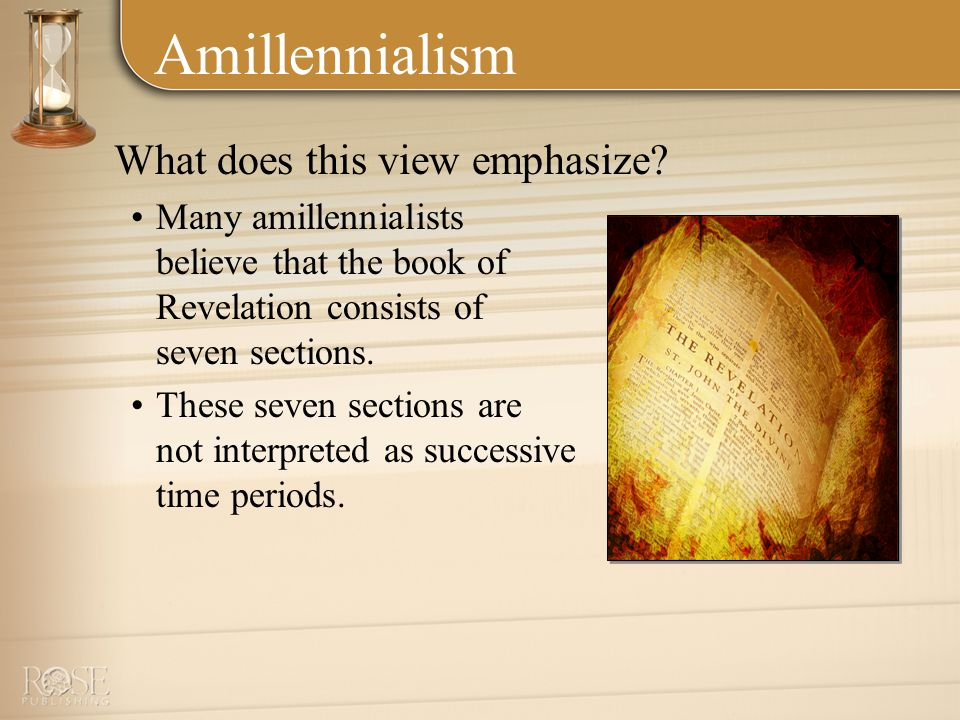 Amillennialism What does this view emphasize.
