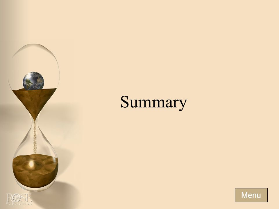 Summary Menu