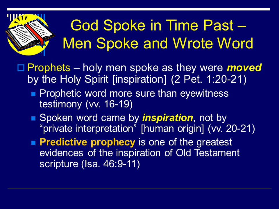 Thus Saith the Lord  Phrase, or equivalent, occurs more than 2000 times in the Old Testament  2 Sam.