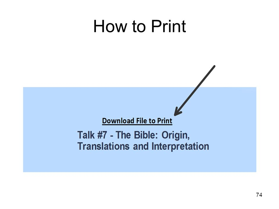 74 How to Print