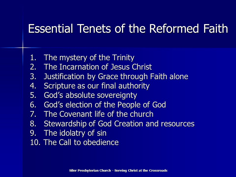 1. The mystery of the Trinity 2. The Incarnation of Jesus Christ 3.