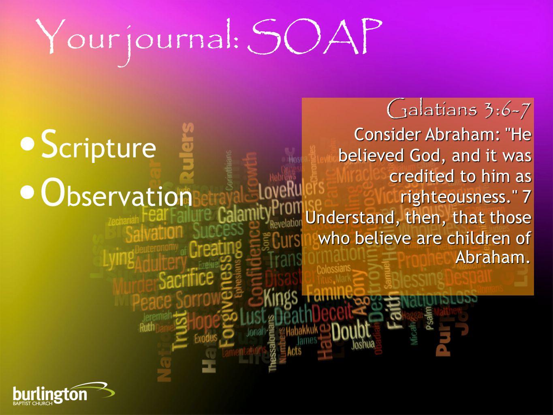 Galatians 3:6-7 Consider Abraham:
