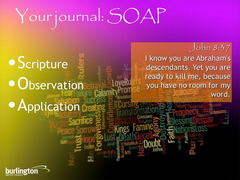 John 8:37 I know you are Abraham s descendants.