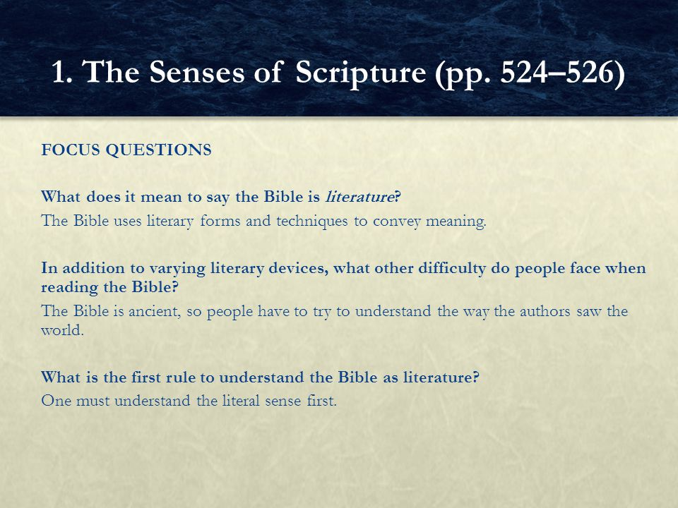 FOCUS QUESTIONS What is the biggest hindrance to interpreting Scripture properly.