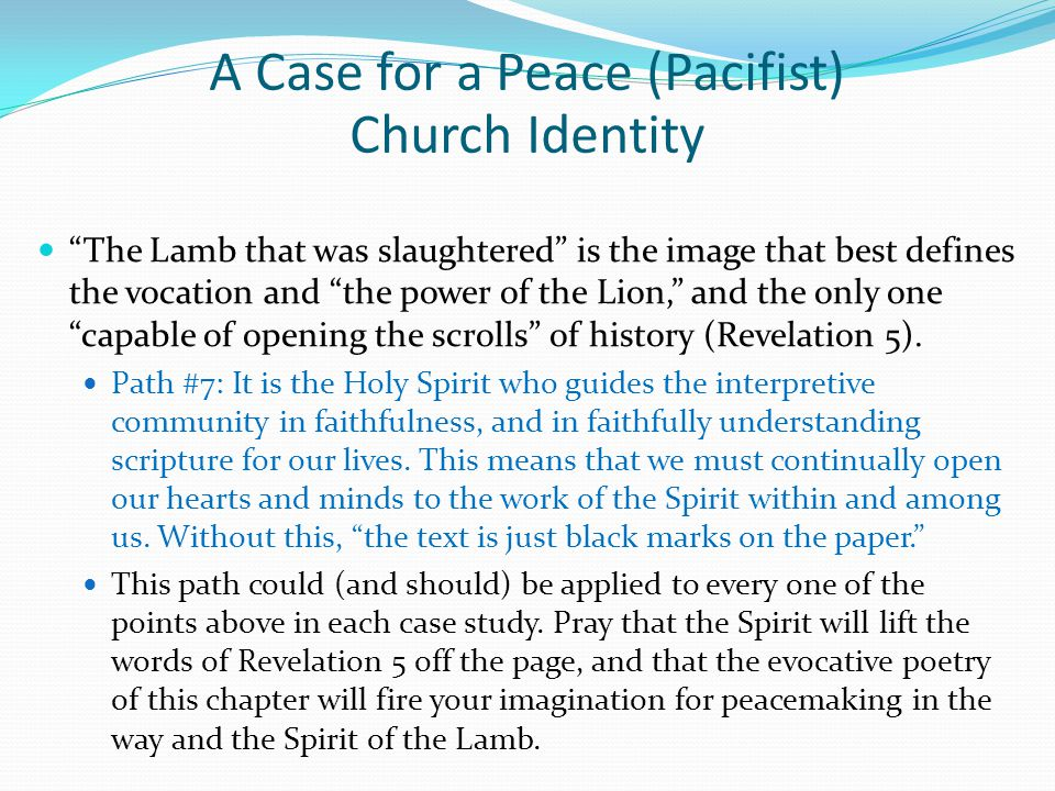 The Lamb that was slaughtered is the image that best defines the vocation and the power of the Lion, and the only one capable of opening the scrolls of history (Revelation 5).