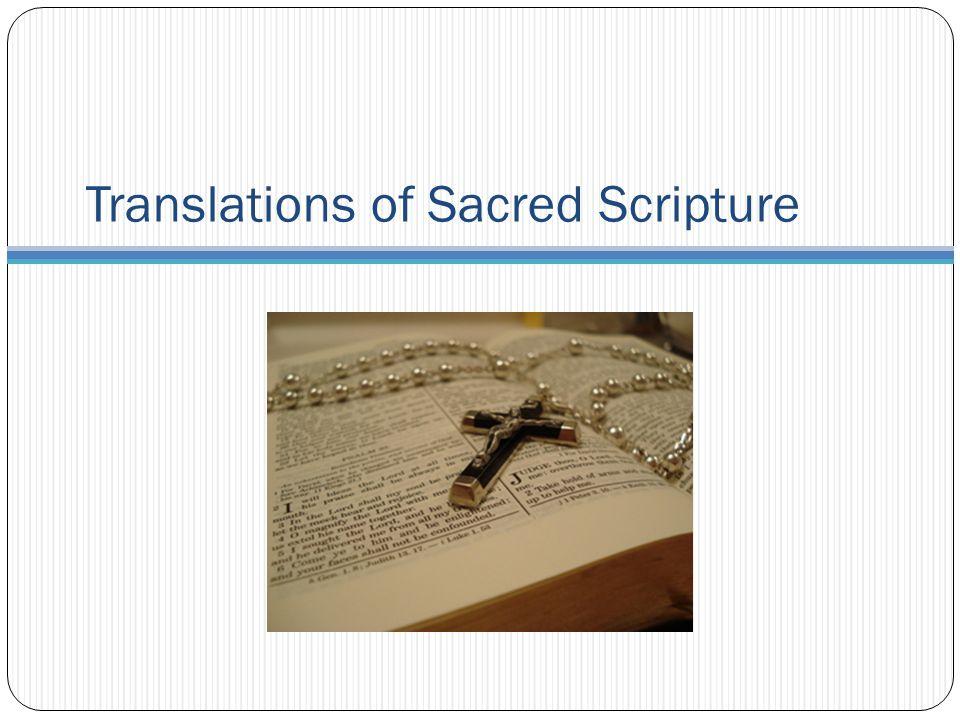 Translations of Sacred Scripture