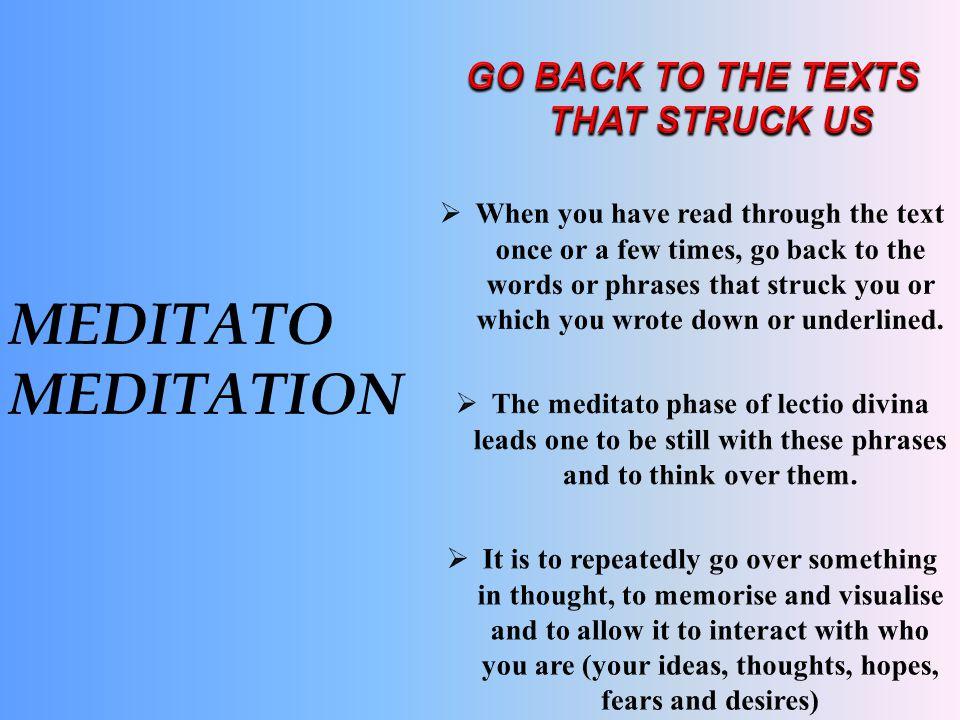 MEDITATO MEDITATION