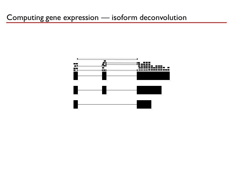 Computing gene expression — isoform deconvolution