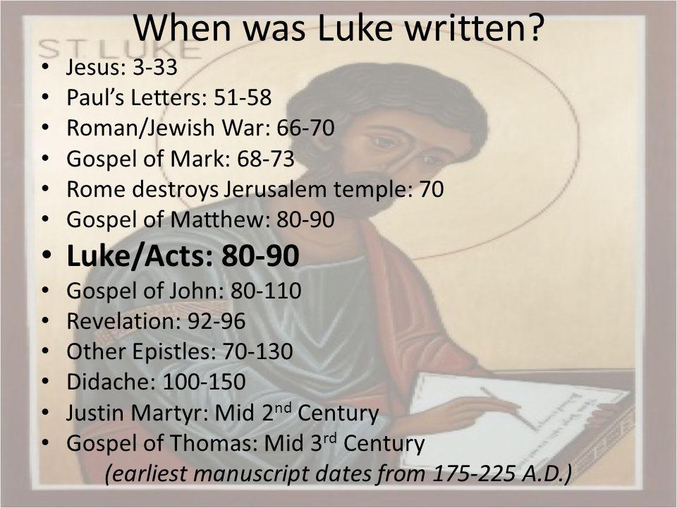 Outline of Luke Prologue, 1:1-4 Infancy narrative, 1:5-2:52 Preparation for public ministry, 3:1-4:13 Ministry in Galilee, 4:14-9:50 Journey to Jerusalem, 9:51-19:27 Ministry in Jerusalem, 19:28-21:38 Passion, 22:1-23:56 Resurrection, 24:1-53