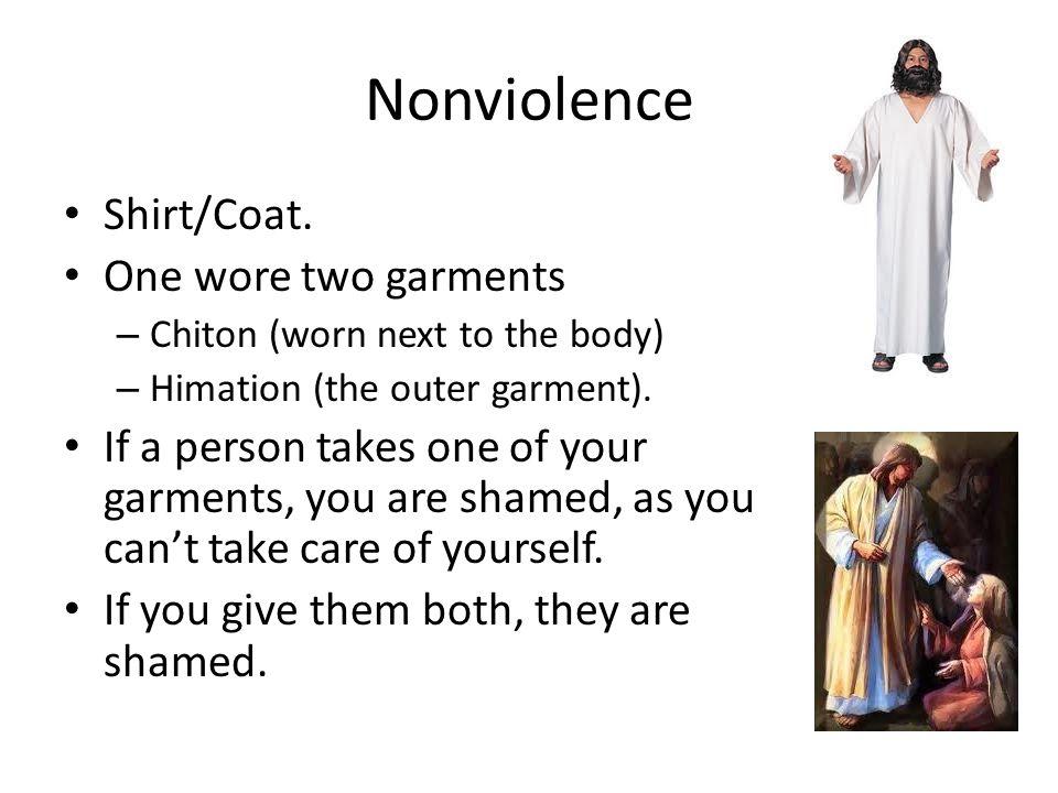 Nonviolence Shirt/Coat.