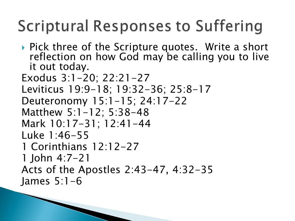  How much does God ask of us in response to suffering.