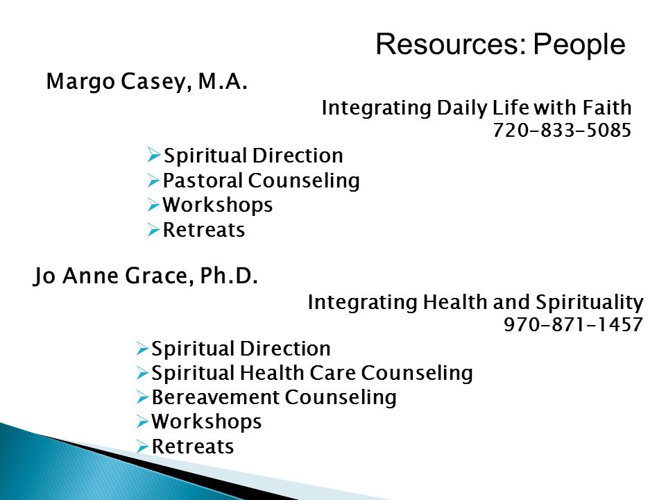 Resources: People Margo Casey, M.A.