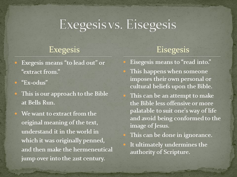 1.Who's Word is this, actually. 2. Am I out to exegete or eisegete the Bible.