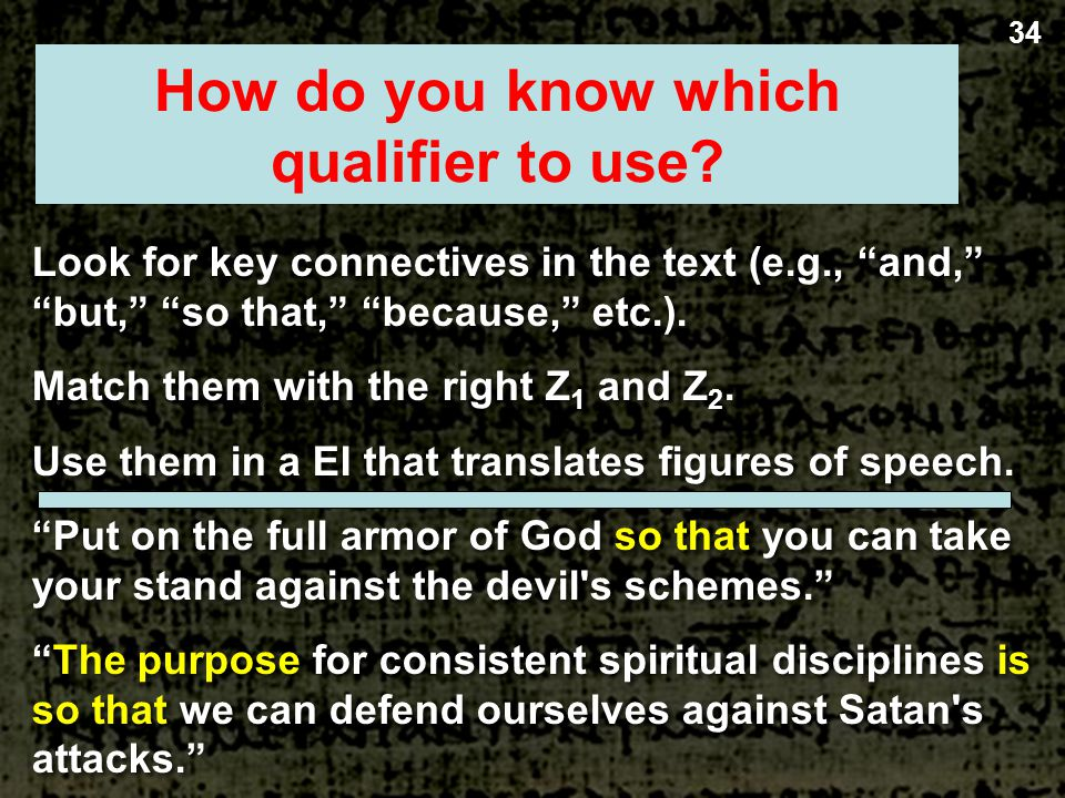 34 Homiletical Questions & Qualifiers