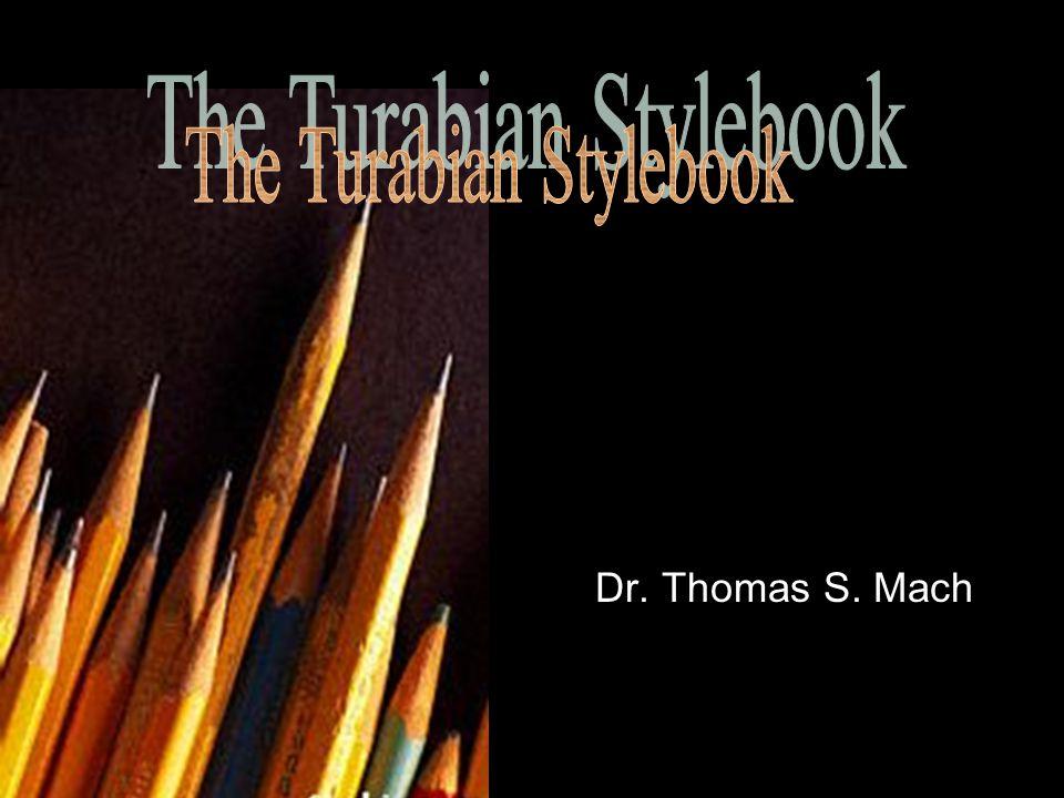 Dr. Thomas S. Mach