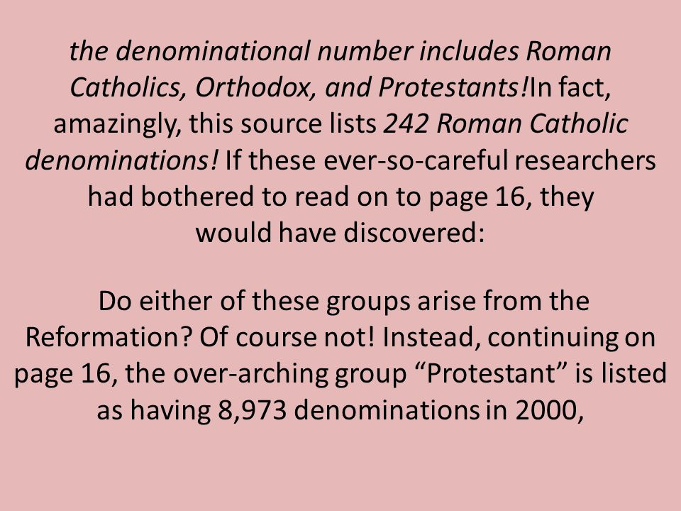 Do either of these groups arise from the Reformation.