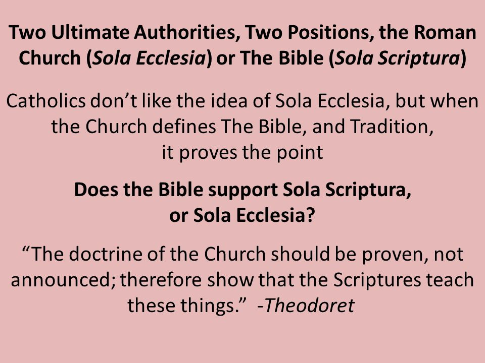 The Church has continued to teach these things as if they were scriptural, and in 1545, at the Council of Trent, the Roman Catholic Church declared that traditions were to be considered equal in authority with the Bible What about tradition.