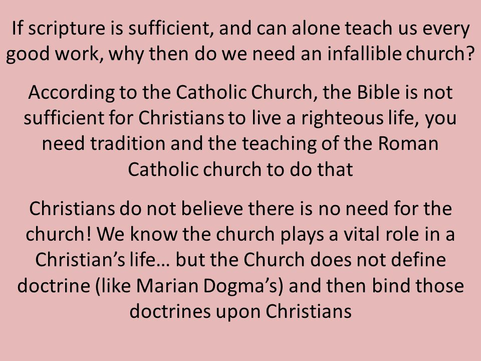 Sola Scriptura produces many denominations.