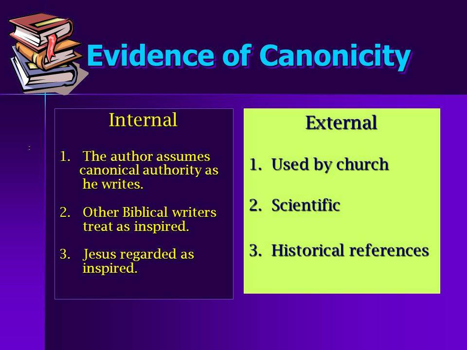 How Were Books Included in the Canon.