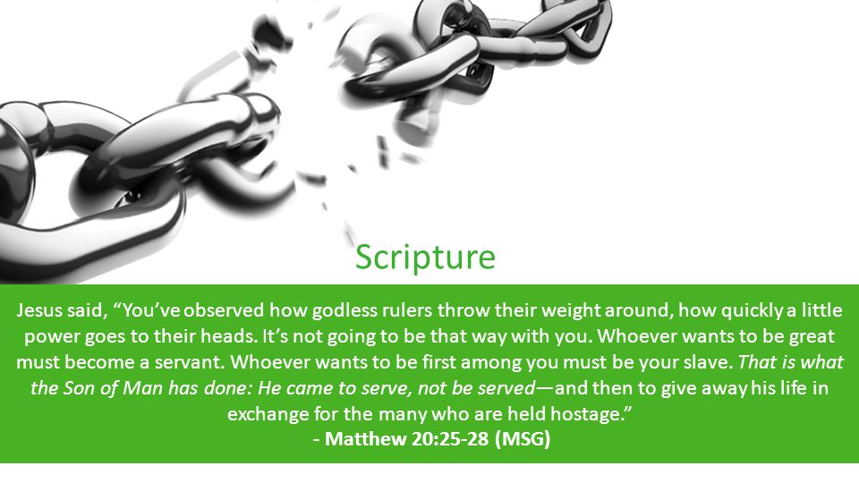 Scripture God Jesus said, You've observed how godless rulers throw their weight around, how quickly a little power goes to their heads.