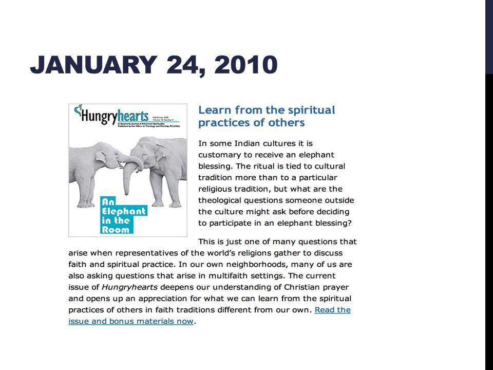 JANUARY 24, 2010