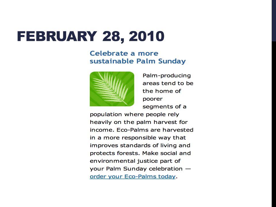 FEBRUARY 28, 2010