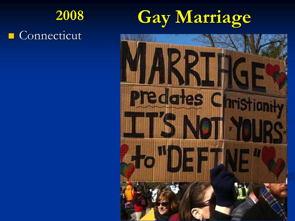 Gay Marriage 2008 Connecticut Connecticut