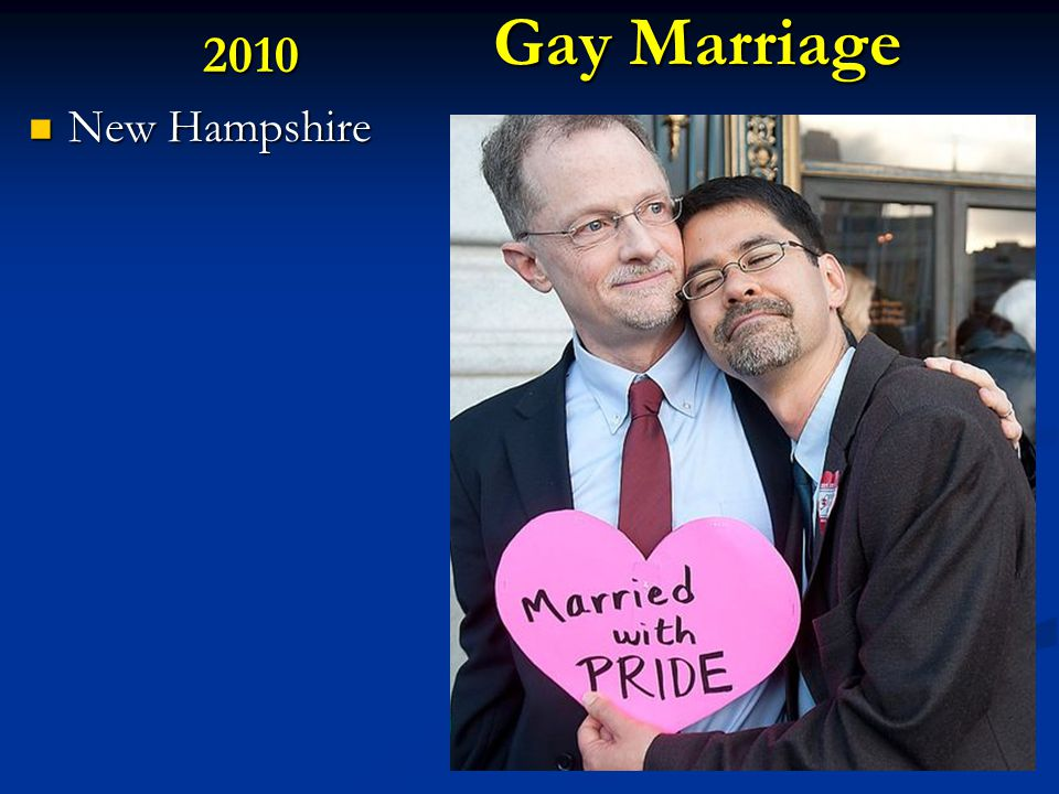Gay Marriage 2010 New Hampshire New Hampshire