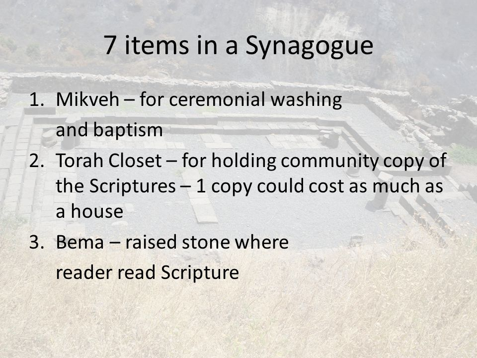 Luke 4:14-30 Jesus goes to Nazareth for Shabbat (Sabbath) – He participates in the worship service – Only those from the community could participate – He was scheduled to sit in Moses' Seat Scheduled reading was Isaiah 61:1-2 – What did Jesus leave out?