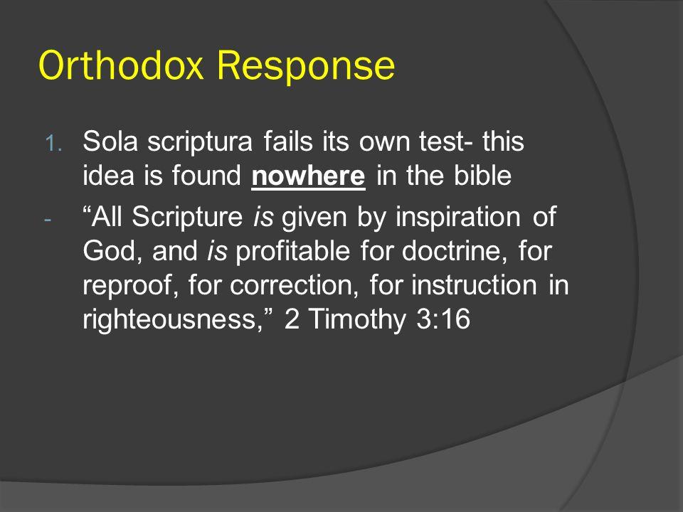 Orthodox Response 1.