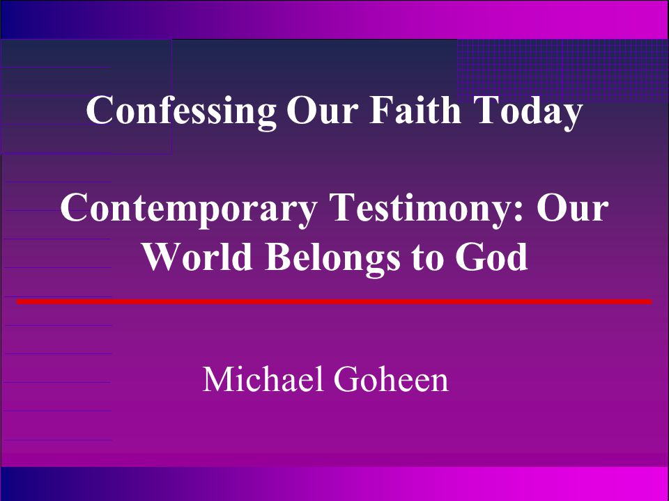 Why can the Contemporary Testimony do this.