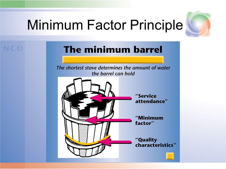Minimum Factor Principle