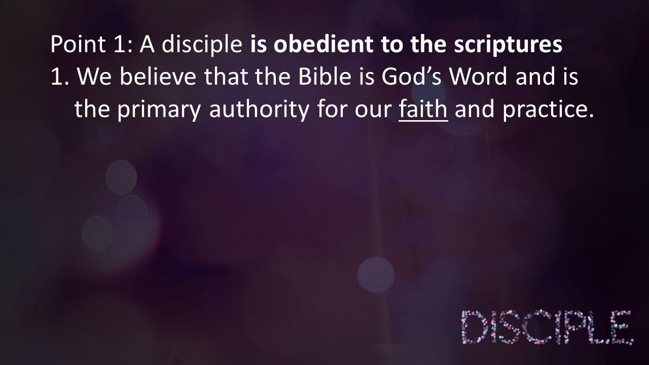 Point 2: A disciple has a vibrant prayer life…..
