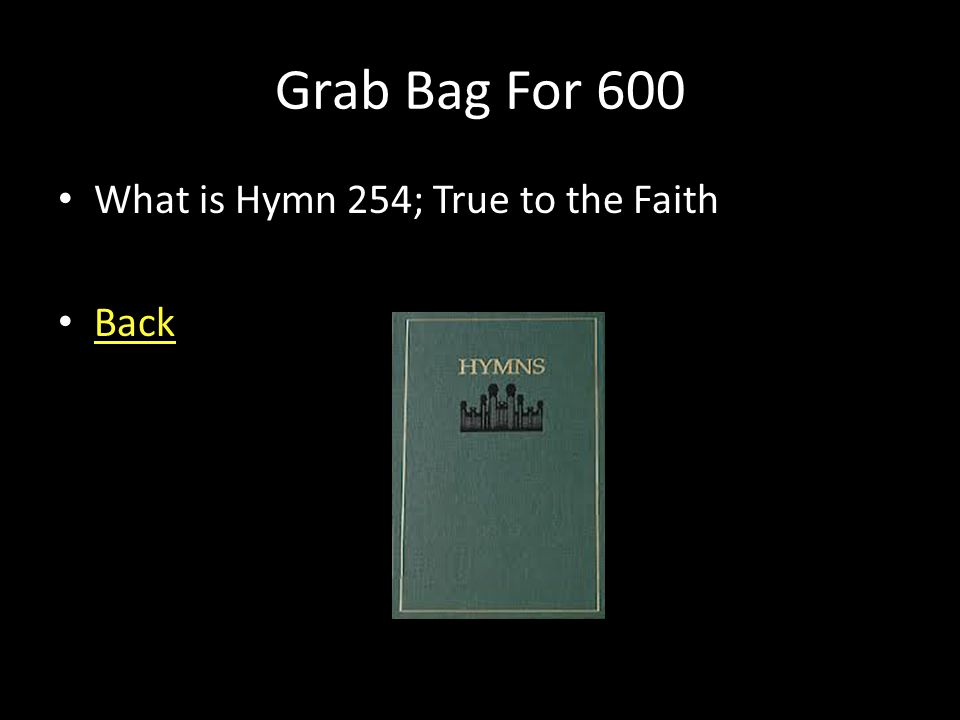 Grab Bag For 600 Elder Walker spoke of standing for truth and quoted from the great hymn about being true to the truth that our parents have cherished