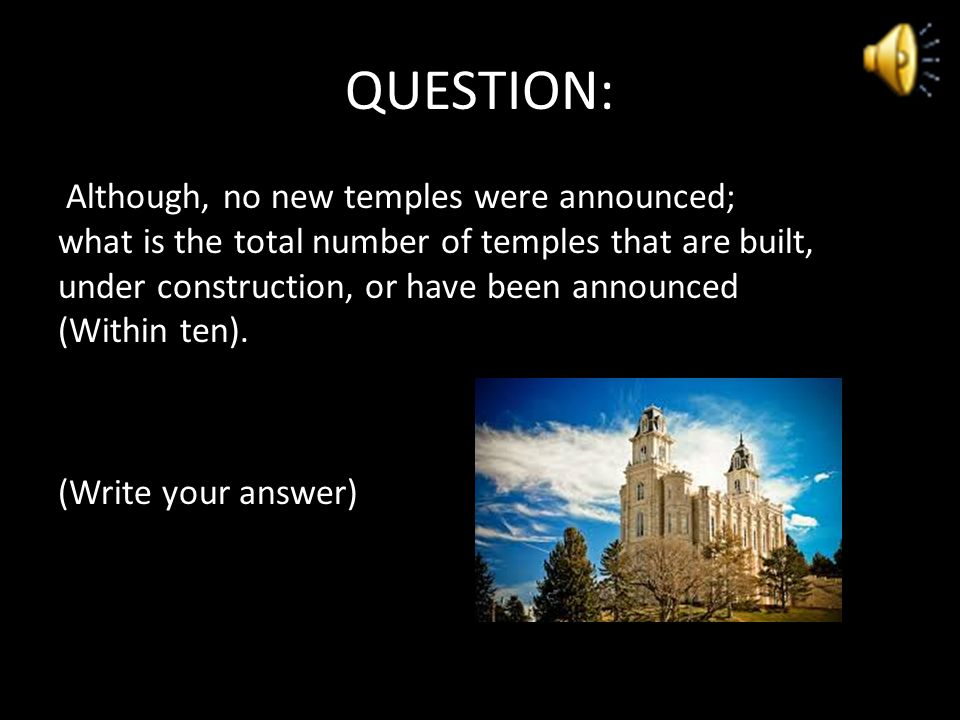 Final Jeopardy Wager your points now… HINT #1 – Topic: Temples