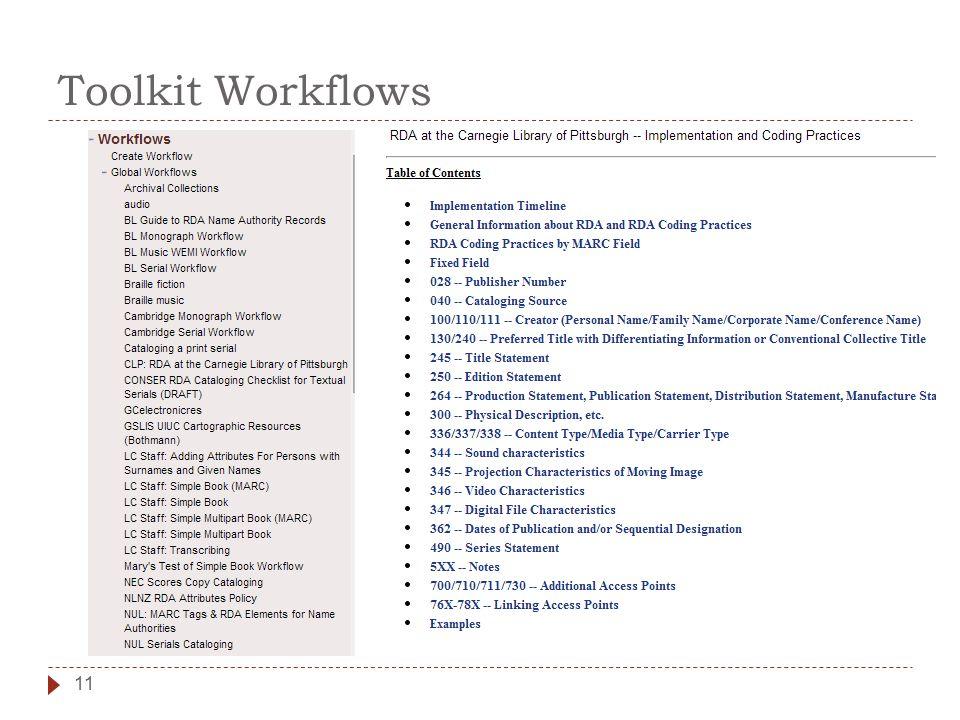 Toolkit Workflows 11