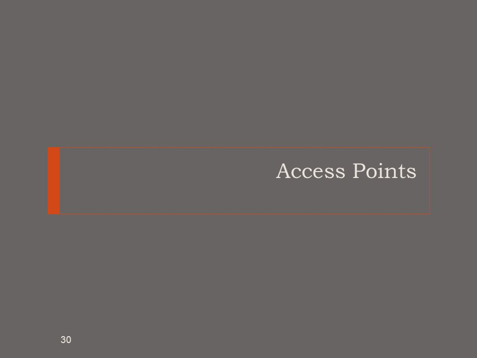 Access Points 30