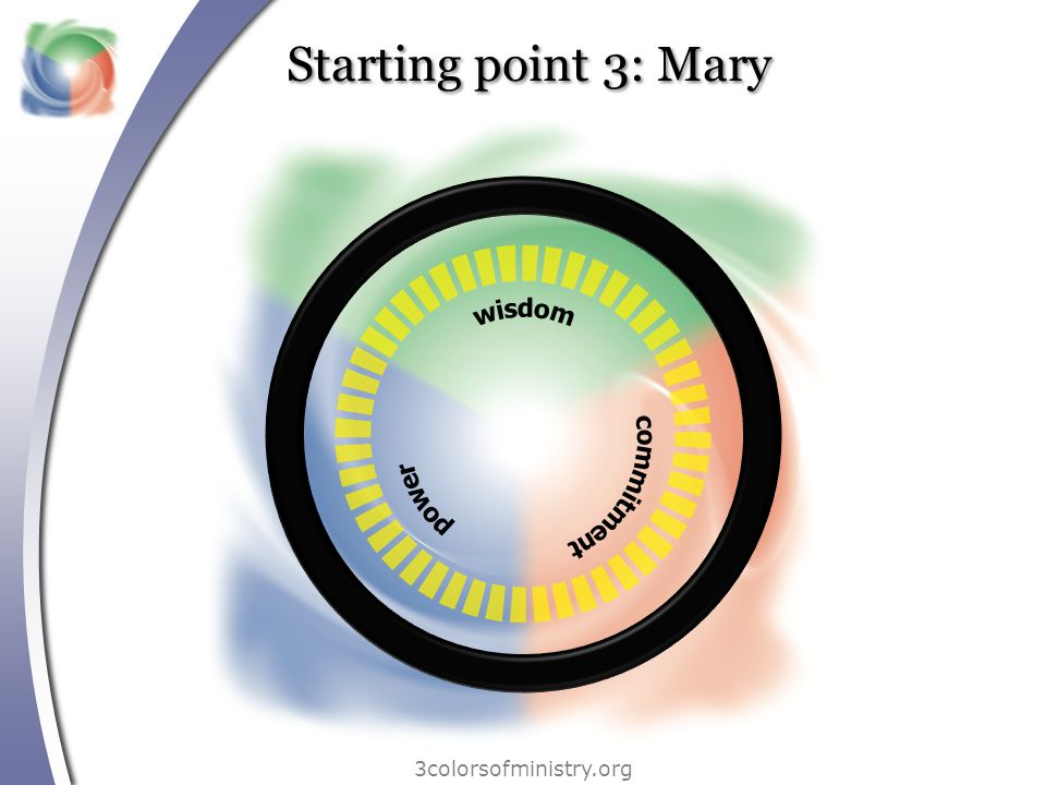3colorsofministry.org Starting point 3: Mary