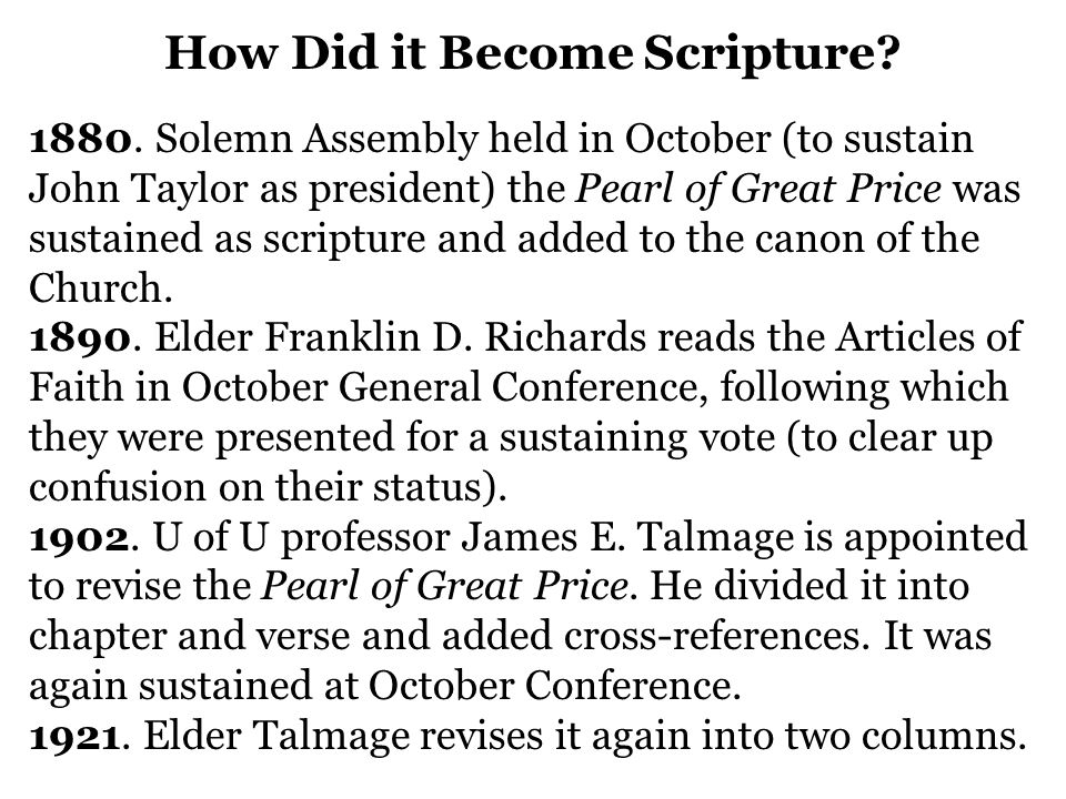 How Did it Become Scripture. 1880.