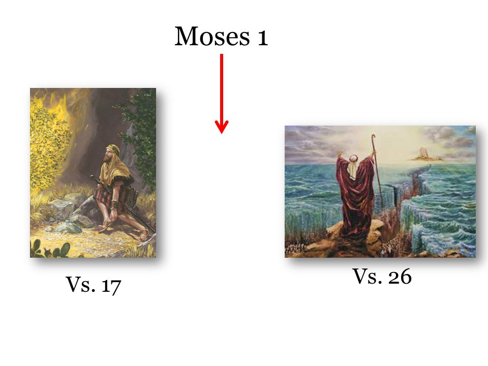 Moses 1 Vs. 17 Vs. 26