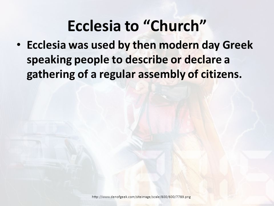 The Ecclesia According to Paul Paul did not describe physical Christ- followers as constituting (making-up) one large physical church.