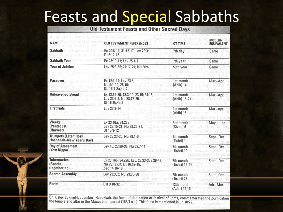 Feasts and Special Sabbaths