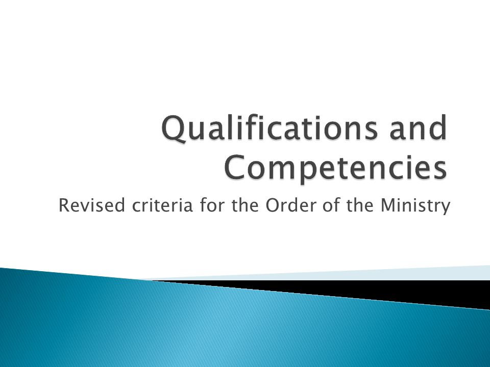Revised criteria for the Order of the Ministry