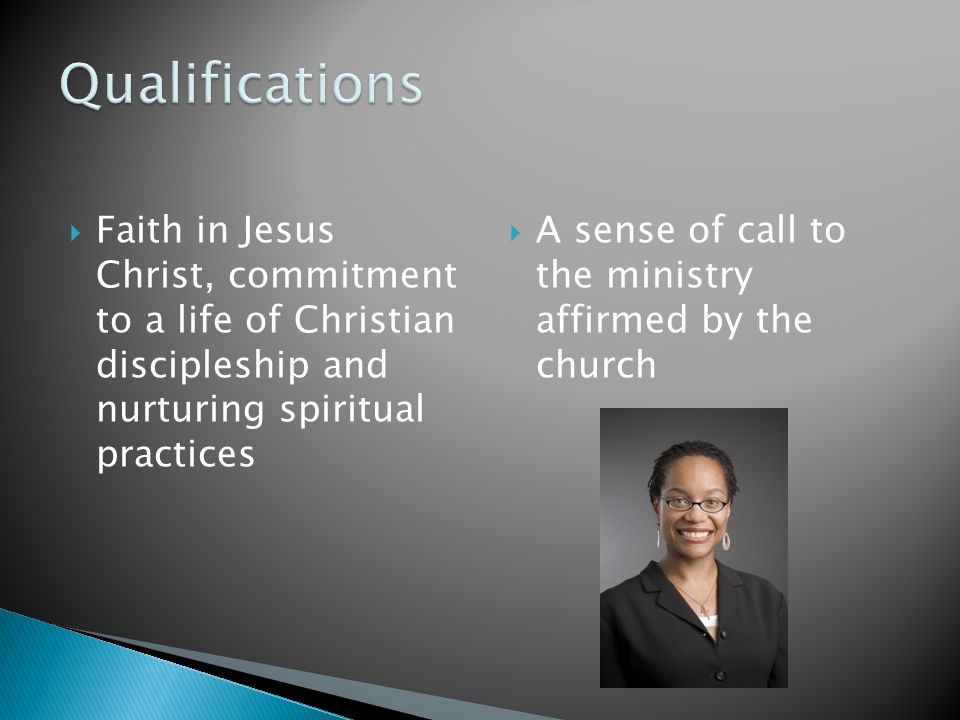  An understanding of pastoral identity  Capacity to engage in theological reflection